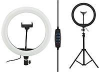 Кольцевая LED лампа диаметром SL300 (30 см) с пультом Black (14334)