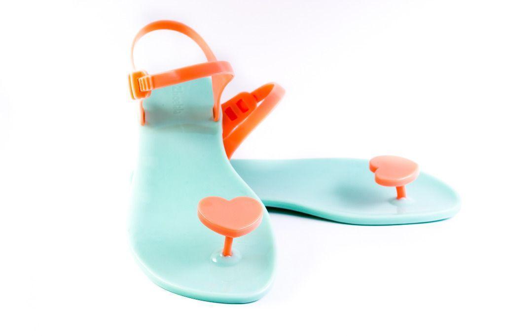 Жіночі сандалі Zhoelala 38 24,3 см м'яка ята серце кораловий