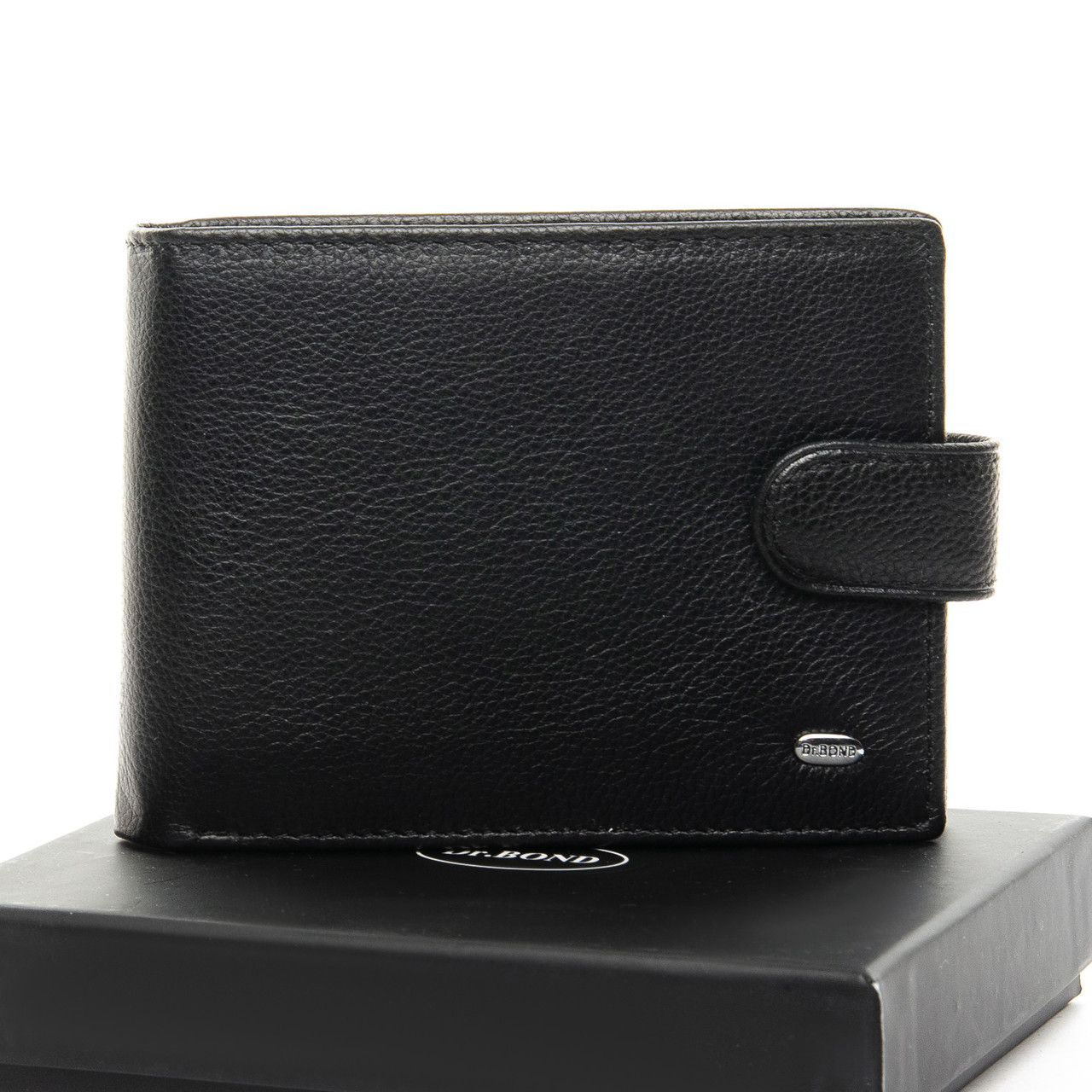 Шкіряний чоловічий гаманець / Кожаный мужской кошелек DR. BOND M182-1 black