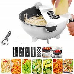 Терка Basket Vegetable Cutte овощерезка слайсер с контейнером многофункциональная с 5 насадками и овощечисткой
