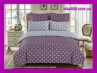 Двуспальный комплект постельного белья из хлопка на молнии Двоспальний комплект постільної білизни  S345
