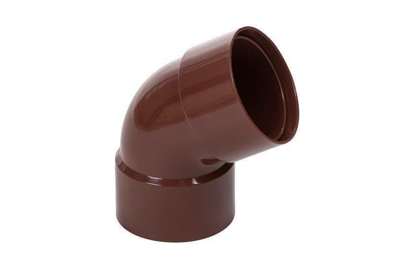 Колено двухраструбное коричневое 60° 90/75 Profil