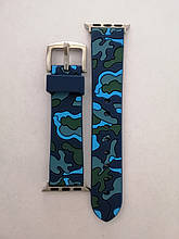 Ремінець Apple Watch ARM Silicone 42/44mm Black-blue