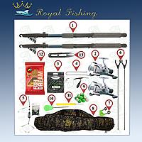 Комлект для ловли карася и карпа. 2 удочки Kalipso 2,7м в полном сборе + чехол и подставки в подарок. №№94