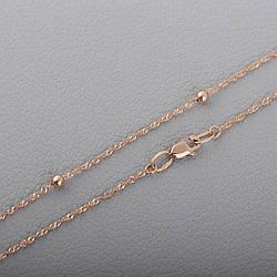 Золотая цепочка плетения Сингапур с шариками П27202051