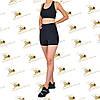Женский спортивный комплект шорты и топ черного цвета, фото 3