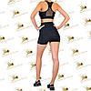 Женский спортивный комплект шорты и топ черного цвета, фото 2