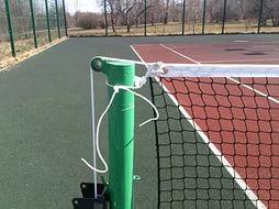 Сетка для большого тенниса D=3mm, 4*4cm, трос в пластике D=5mm