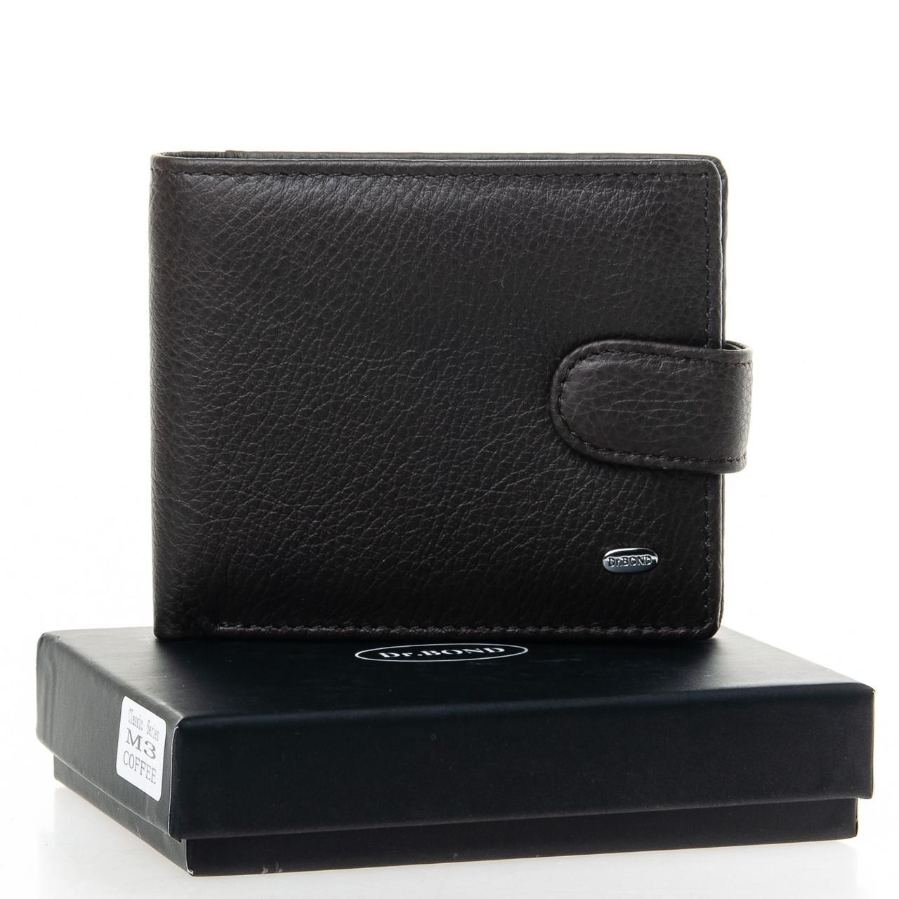 Шкіряний чоловічий гаманець / Кожаный мужской кошелек DR. BOND M3 coffee
