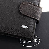 Шкіряний чоловічий гаманець / Кожаный мужской кошелек DR. BOND M3 coffee, фото 2