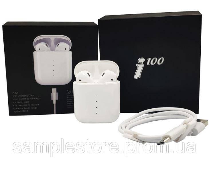 Беспроводные сенсорные наушники TWS i100 Bluetooth гарнитура