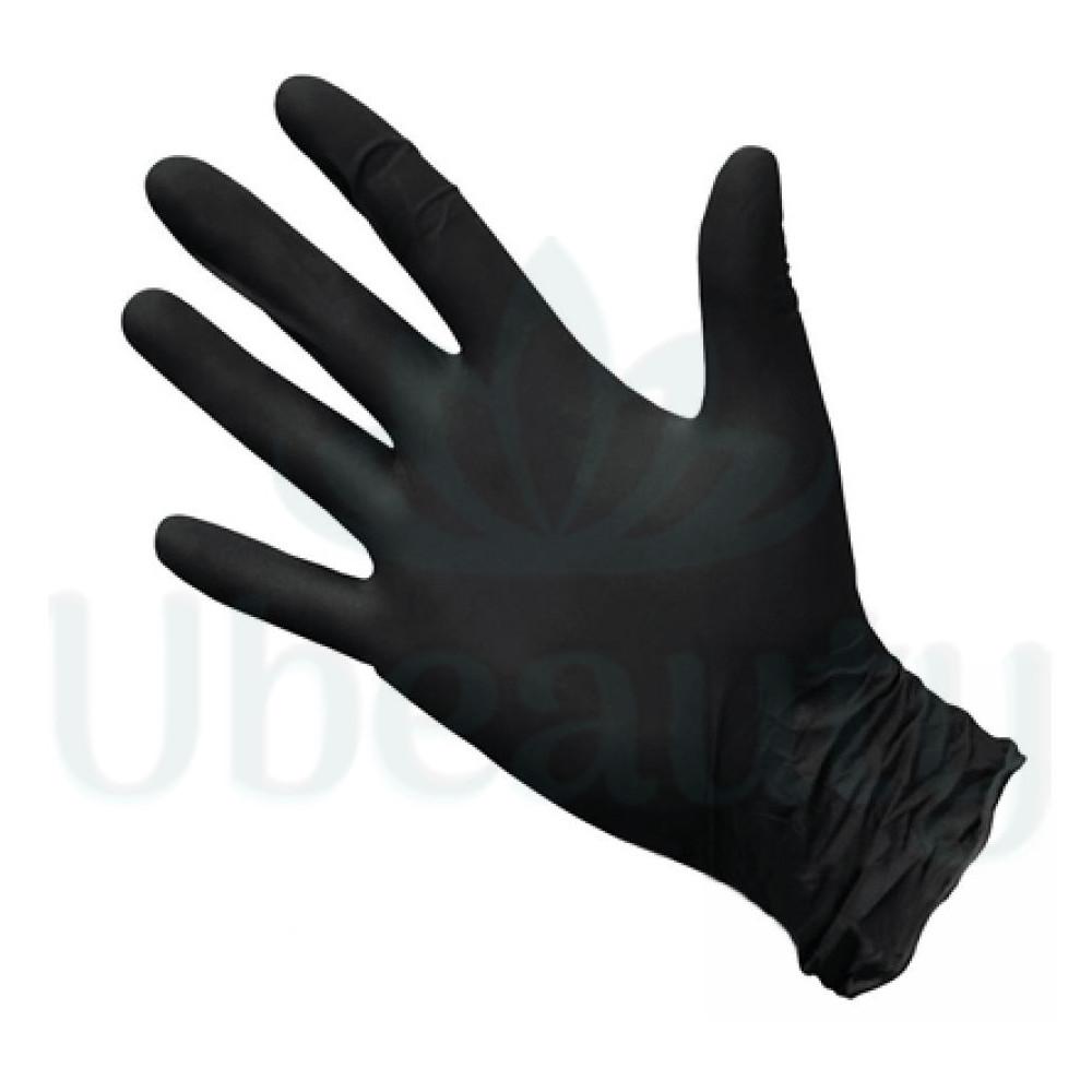 Перчатки нитриловые черные Shanmei , размер S, 8.5 см, 100 шт, 50 пар