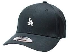 Черная бейсболка, кепка мужская, женская LA маленький лого коттон
