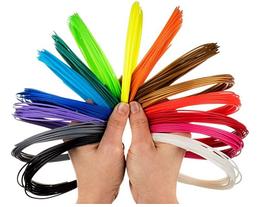 Комплект пластика для электронной 3D ручки (PLA) 20 цветов по 10 метров (уп.20шт)