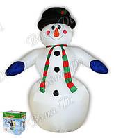 Надувающаяся фигура снеговик 240см