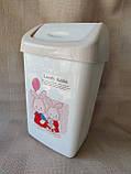 """Відерце для сміття«Lovely rabbit"""", матеріал пластик, розмір 35х22х14,5 см, виробник Туреччина, ціна 75грн, фото 2"""
