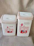 """Відерце для сміття«Lovely rabbit"""", матеріал пластик, розмір 35х22х14,5 см, виробник Туреччина, ціна 75грн, фото 5"""