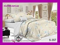 Двуспальный комплект постельного белья из хлопка на молнии Двоспальний комплект постільної білизни  S357