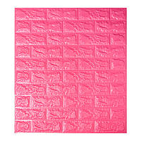 Самоклеющаяся декоративная 3D панель под темно-розовый кирпич 700x770x7мм Os-BG06, фото 1