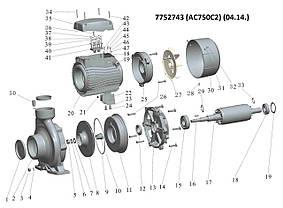 """Насос центробежный 380В 7.5кВт Hmax 56.5м Qmax 900л/мин 2"""" LEO 3.0 (7752743), фото 3"""