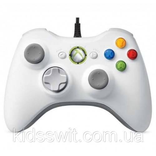Проводной джойстик для Xbox 360 Белый