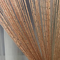 Шторы нити дождь с люрексом 300x280 cm Розовые (Ki-18), фото 1