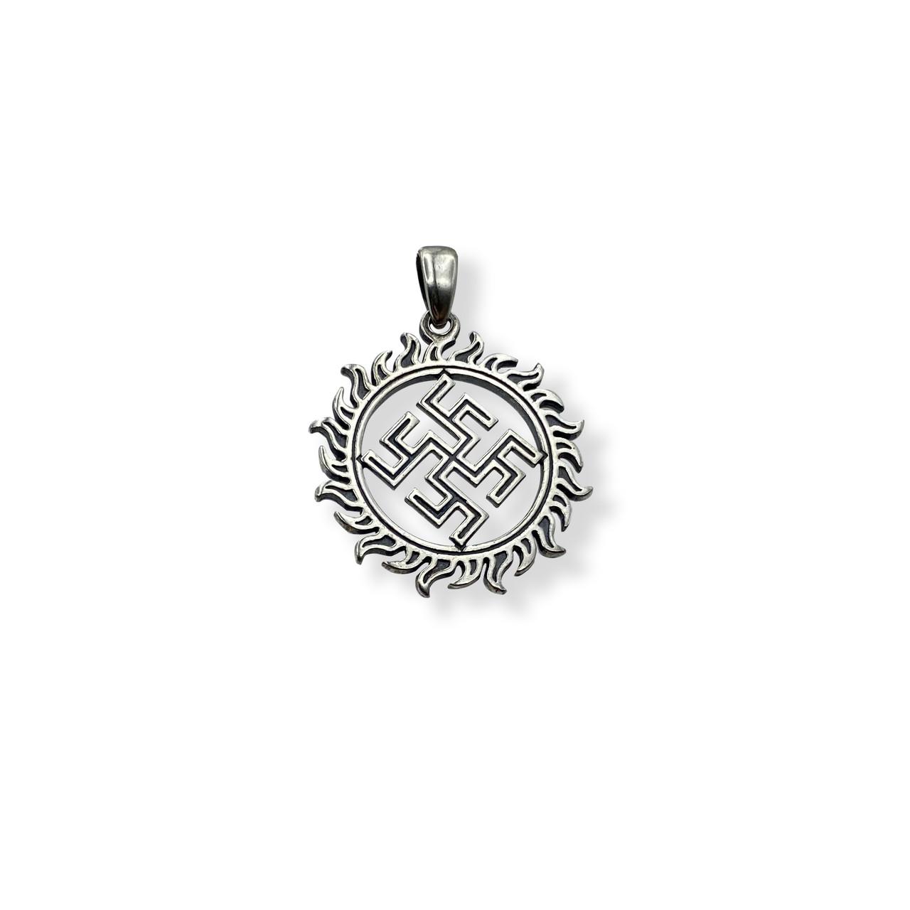 """""""Квітка папороті в сонце"""" - слов'янський оберіг із срібла 925 проби"""