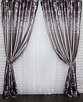 Комплект готовых штор для гостинной фотошторы