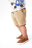 Шорты коттон на шнурке для мальчика Next, бежевый (р.104,110)