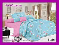 Двуспальный комплект постельного белья из хлопка на молнии Двоспальний комплект постільної білизни  S356