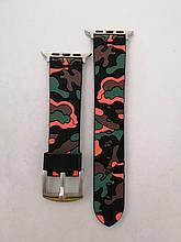 Ремешок Apple Watch ARM Silicone 42/44mm Black-red