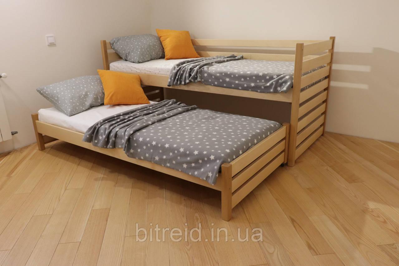 """Односпальне ліжко з дод. висувним сп.місцем """"Сімба"""