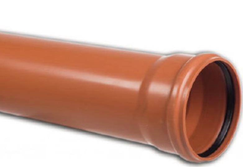 Труба канализационная Ø110 для удаления навоза 1 м