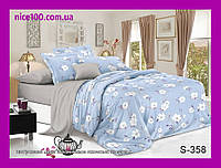 Двуспальный комплект постельного белья из хлопка на молнии Двоспальний комплект постільної білизни  S358