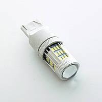 """Светодиод 12V T20/5 Белый SMD 45 (4014)+Линза+радиатор """"72045"""" +750Lm 2-х контактная (1шт.)"""