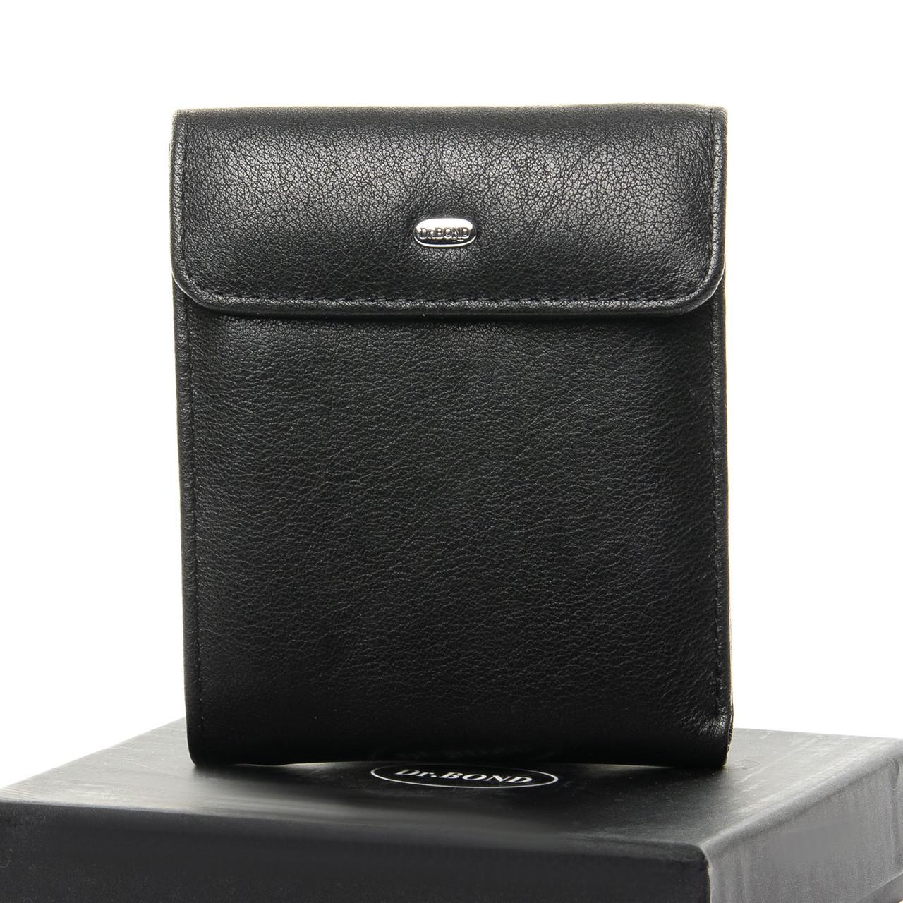 Шкіряний чоловічий гаманець / Кожаный мужской кошелек DR. BOND M55 black