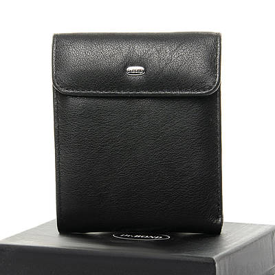 Черный кожаный мужской кошелек портмоне DR. BOND M55 black