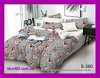 Двуспальный комплект постельного белья из хлопка на молнии Двоспальний комплект постільної білизни  S360