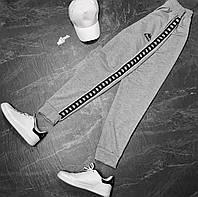 Штаны мужские  серые с лампасом Kappa