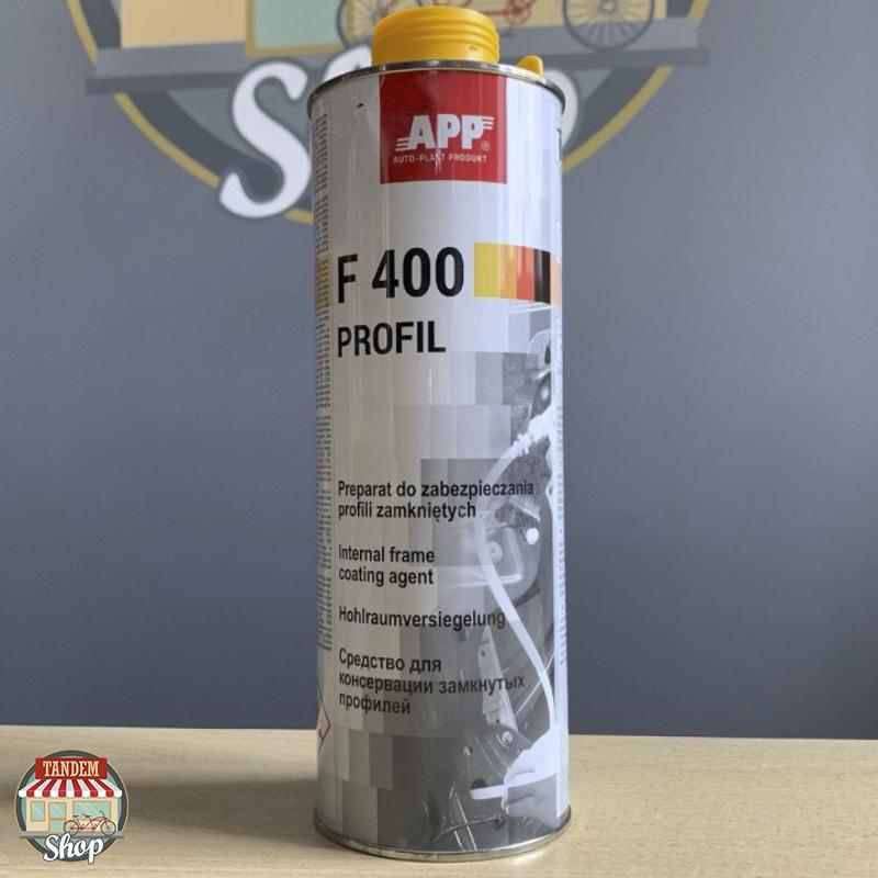 Средство для защиты закрытых профилей кузова (мовиль) APP F400 Profil, 1 л