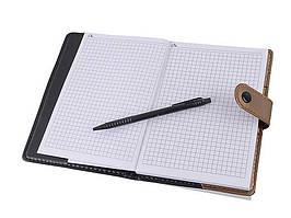 Блокнот ООПТ 18х13см 90л клетка на кнопке с ручкой 5214-36К