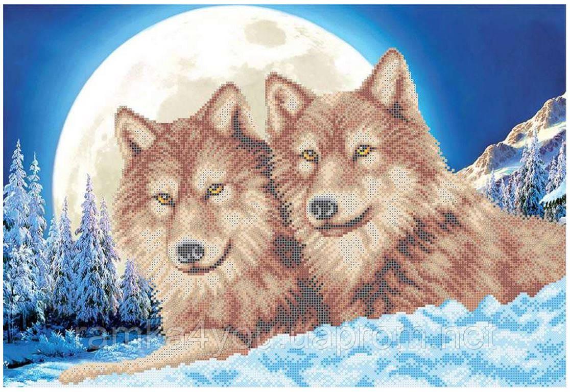 Схемы вышивки волк и луна