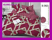 Двуспальный комплект постельного белья из хлопка на молнии Двоспальний комплект постільної білизни  S362