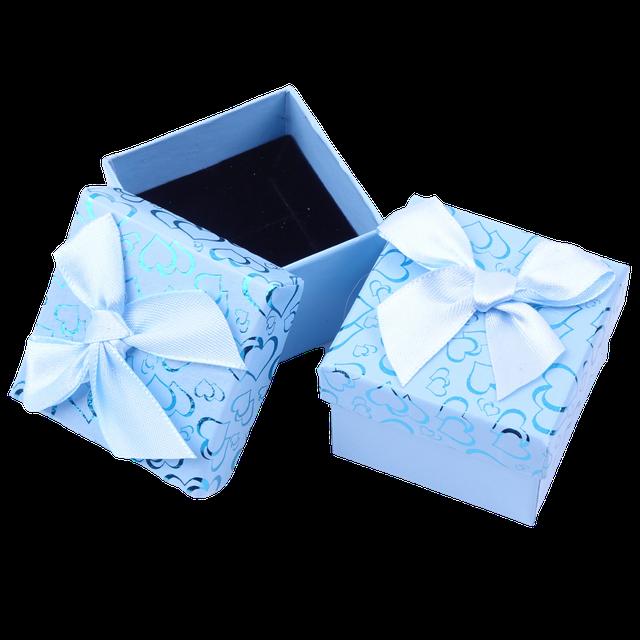 Картинка Коробочка подарочная box1-4 Голубой