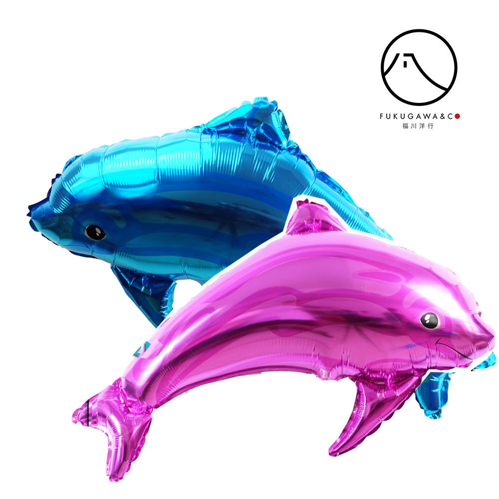Фольгована кулька велика фігура дельфін рожевий Китай