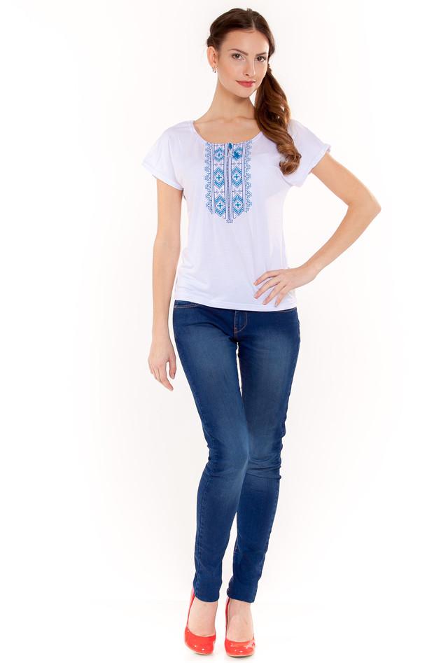 вышитая футболка с узором Гуцульский орнамент