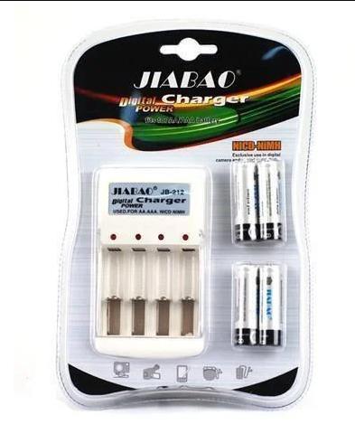 Комплект Зарядное + батарейки пальчик удобное зарядное устройство JIABAO 212AA 3278