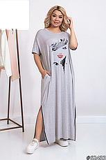 Платье женское спортивное повседневное трикотажное размеры 52-66, фото 2
