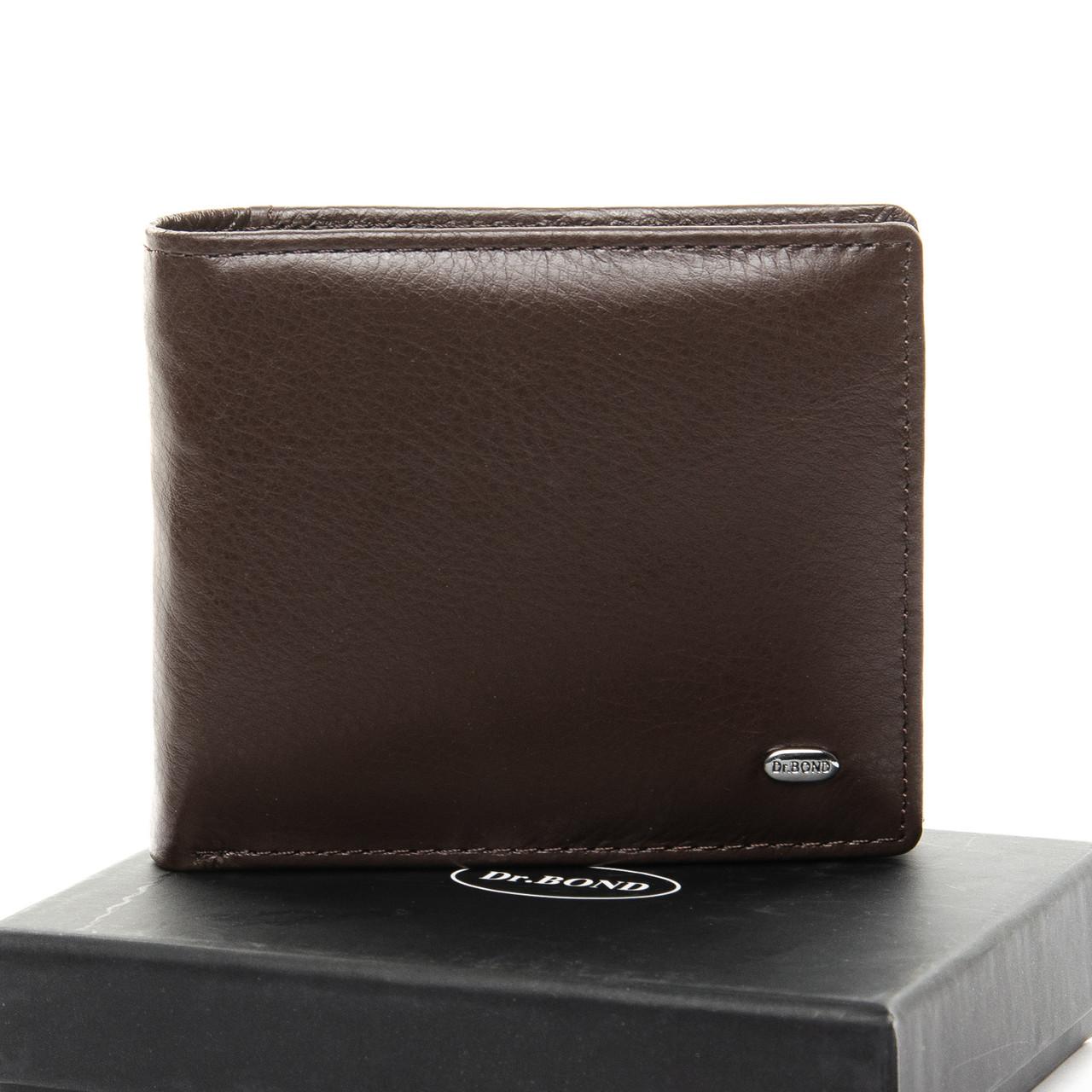 Шкіряний чоловічий гаманець / Кожаный мужской кошелек DR. BOND MSM-4 coffee