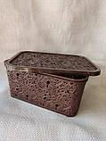 Ажурна корзинка з кришкою, матеріал пластик, розмір44,5х28,5х22  см, виробник Україна, ціна 174 грн, фото 6